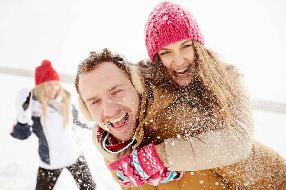 single wintersport plezier in de sneeuw